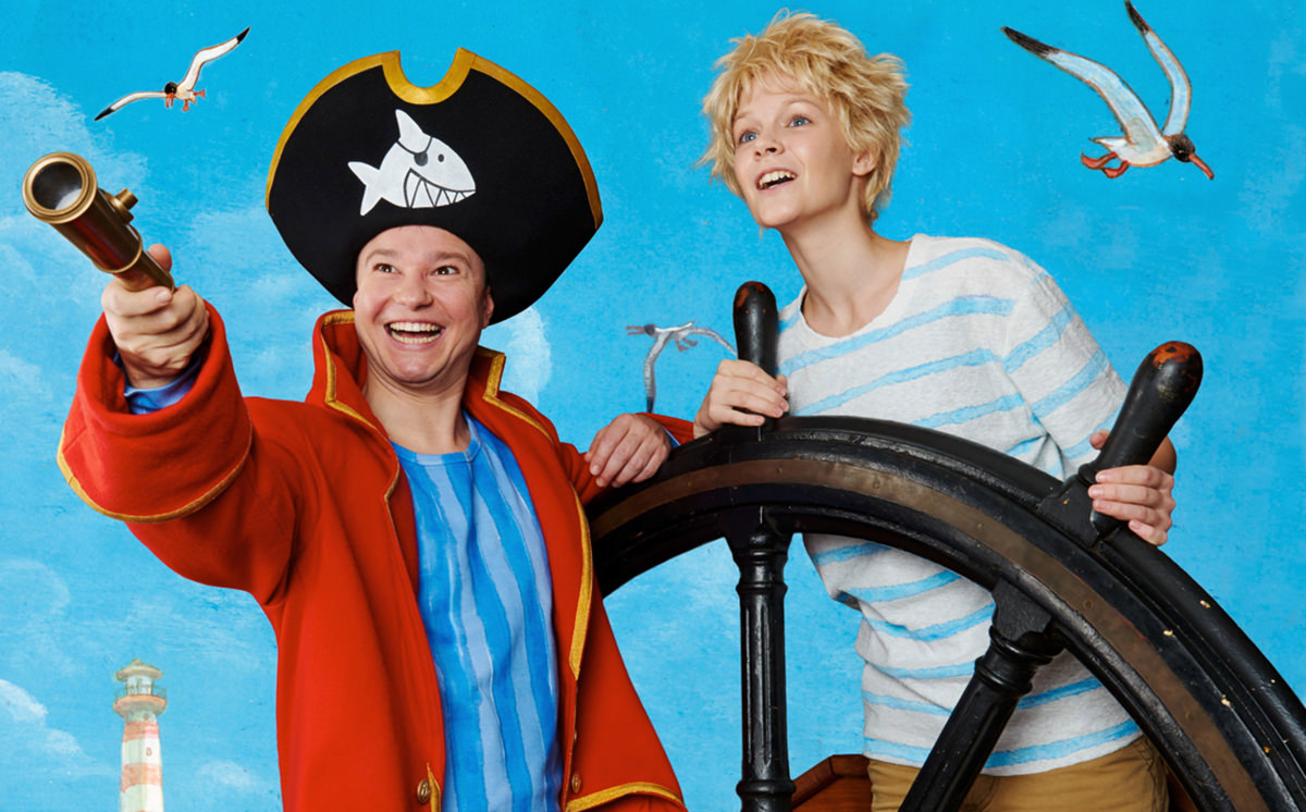 Handgefertigter Hut für Kaeptn Sharky von Birke Breckwoldt