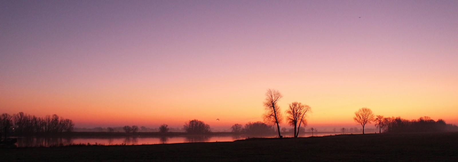 Sonnenuntergang in Hitzacker